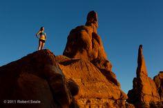 Sol's Melanie with the incredible photographer Robert Seale in Kodachrome Basin, Utah.