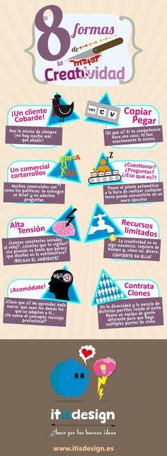 8 formas de matar la creatividad #infografia#infographic