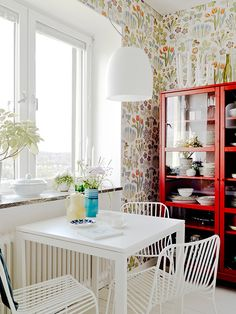 Josef Frank Vårklockor Scandinavian wallpaper *Similar to the dining room wallpaper in my childhood home*