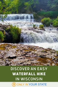 If you're looking for an easy summer hike in Wisconsin, this is it. It's under a mile and offers a beautiful natural waterfall swimming hole at the end of the trail. Cool off, enjoy nature, and have fun with the family. | Day Trips | Best Hikes | Easy Trails | Kid Friendly Beautiful Vacation Spots, Dream Vacation Spots, Vacation Places, Dream Vacations, Vacation Ideas, Beautiful Places In America, Wonderful Places, Waterfall Wallpaper, Natural Waterfalls