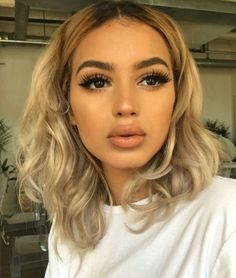 80 Sexy Long Bob You Should Try - Lob Ideas for Long Bob Long bob hairstyle or lob is so popular since ancient Egypt. It is easy to care for, it suits girls of different types and easily cleans up i., The Lob Bob Skin Makeup, Beauty Makeup, Hair Beauty, Makeup Style, Eyelashes Makeup, Beauty Tips, Glowy Skin, Makeup Tips, Eyebrows