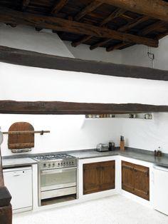 Finca kitchen with cupboard doors
