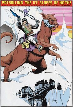 Star Wars - Patrolling the Ice Slopes of Hoth (1980) by Joe Jusko