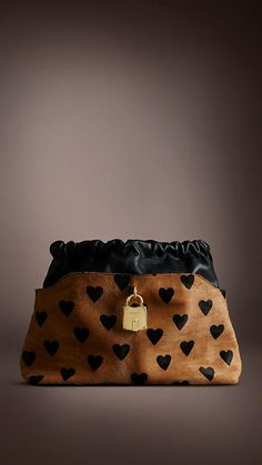 Burberry - The Little Crush in Heart Print Calfskin and Leather