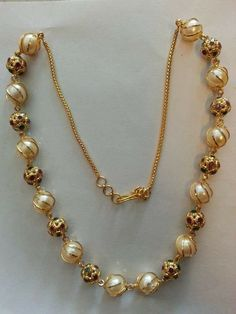 7 Amazing Tips: I Dream In Jewelry Quotes fashion jewelry Trends Earrings i dream in jewelry quotes. Gold Pearl Necklace, Pearl Jewelry, Indian Jewelry, Antique Jewelry, Beaded Jewelry, Diy Jewelry, Jewelry Storage, Jewelry Holder, Gold Jewelry