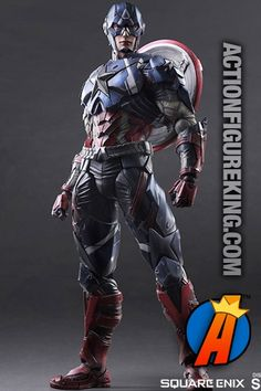 Highly detailed 10-inch scale Captain America Variant action figure from Sideshow Collectibles and Square Enix. #captainamerica #avengers #actionfigures