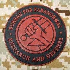 B P R D Bureau FOR Paranormal Research Tactical Morale 3D PVC Patch | eBay