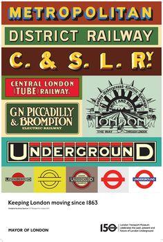 london tube poster