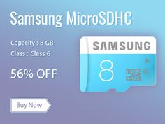Biggest Saving #Deals on Moskart.com, #Shop Online #Samsung #MicroSDHC #8GB Class 6 memory card @ Rs.199.00  across in india.
