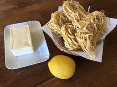 Tagliatelle al limone || Ricetta facile e veloce di amore e olio Dairy, Cheese, Food, Tagliatelle, Meals, Yemek, Eten