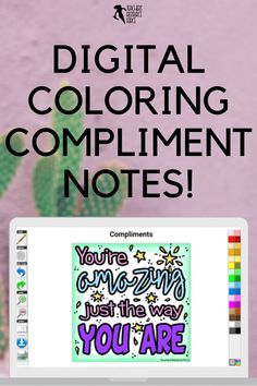 These digital coloring compliment notes are ideal for lifting the spirits in your online or face to face classroom and spreading kindness! There are 20 different coloring notes to choose from. Enjoy some relaxing down time coloring online, whilst spreading kindness and compliments to the entire school body! Quote Coloring Pages, Colouring Pages, Character Education, Character Development, Teacher Resources, Teaching Ideas, Growth Mindset Display, Compliment Quotes, Mindfulness Colouring