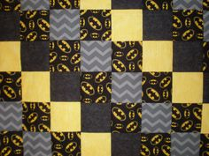 Batman Patchwork  Quilt by GoughGoodies on Etsy