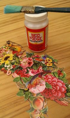 Table Top Transformation....napkin Decoupage DIY Tutorial :: Hometalk