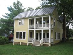 Best Yellow House Metal Roof Metal Roofing Camp Exterior 640 x 480