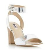 DUNE LADIES JAMILA - Two Part Ankle Strap Sandal - silver  | Dune Shoes Online