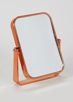 Bathroom Copper Effect Rectangular Stand Mirror (18cm x 13cm) from Matalan £5