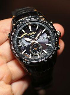 Seiko Astron Solar horloge. GPS herenhorloge - door middel van satellieten wordt de exacte tijd weergegeven.  www.ajuweliers.nl