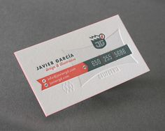 Business Card for: Javier Garcia | The Best of Business Card Design