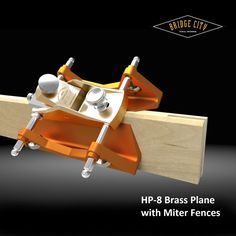 The HP-8 Low Angle Mini Block Plane was made in Brass in 2011. It features a bevel-up iron bedded at 12 degrees creating an attack angle of 42 degrees. Both faces of the A2 tool steel are optically lapped, and the hardness is 60-62 Rc. #woodworking #bridgecitytools Woodworking Hand Planes, Learn Woodworking, Woodworking Projects, Antique Tools, Vintage Tools, Plane Tool, Tool Board, Wood Plane, Carpenter Tools