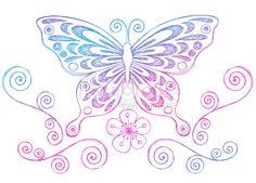 doodle art butterflies - Google Search