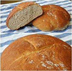 Rozpis na 2 bochníky:  600 g pšeničné hladké mouky  400 g žitné chlebové mouky  25 ml kvasného octa  25 g soli  30 g čerstvého droždí  5 ...