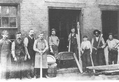 Louisville Slugger Bat Factory on 1st Street Louisville, Ky., late 1800's