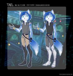 Higher quality version of this ref I put together for Tael! I couldn't decide between outfits lmao I think I might make a bigger one later that shows his weapons and expressions but for now I am lazy Doodle Doodle, Star Fox, Krystal, Furry Art, Videos, Weapons, Video Games, Favorite Things, Nintendo