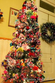 hairbow christmas tree