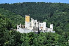 Schloss Stolzenfels (photo by Holger Weinandt - Creative Commons Attribution-Share Alike 3.0 Germany license)  Rhineland-Palatinate