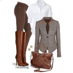 No. 434 - Brown @ work, created by hbhamburg on Polyvore