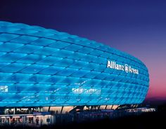 The Allianz Arena is a football stadium in the north of Munich, Bavaria, Germany. The two professional Munich football clubs FC Bayern Munich and TSV 1860 München have played their home games at the Allianz Arena since the start of the 2005–06 season.