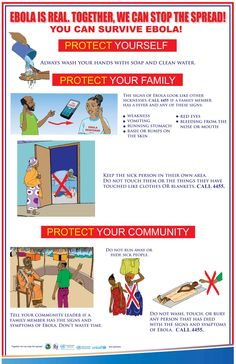 An Ebola prevention poster in Liberia, from UNICEF.