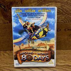 Around the World in 80 Days DVD 2004 Jackie Chan steve coogan comedy movie PG Around The World In 80 Days, Around The Worlds, Walden Media, World Days, Jackie Chan, Comedy Movies, Kids, Children, Boys