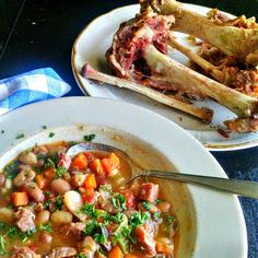 Smoked Ham And Bean Soup...It'll Stick To Your Ribs!