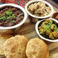 Poori bhaji (northern India) | 22 Vegetarian Indian Street Foods That Will Make You Salivate Unattractively