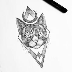 Dotted pussy ------------------ #iblackwork #blacktattooart #engraving #onlyblackart #tattooartist #linework #dotwork #line #tattoo #tattooed #drawing #beast #flashaddicted #art #artwork #picoftheday #inked #tattooing #cat #black #darkartists #blackwork #vsco #geomtry #dotworktattoo