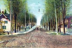 Postcards of the Past - Vintage Postcards of Ontario, Canada Vintage Postcards, Vintage Photos, Sales Image, Original Image, Ontario, Fields, The Past, Country Roads, Street View