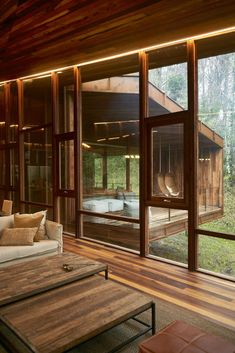 Cazu Zegers designs elevated timber retreat in the Chilean woods – Häuser und Räume - architecture house Home Interior Design, Exterior Design, Interior Architecture, Interior And Exterior, Natural Architecture, Lobby Interior, Future House, House Goals, House In The Woods