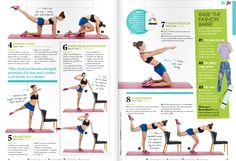 2 from Women's Fitness mag 15 Min Workout, Beginner Yoga Workout, Step Workout, Six Pack Abs Workout, Abs Workout For Women, Workout Ideas, Lower Ab Workouts, Fun Workouts, Ballet Barre Workout