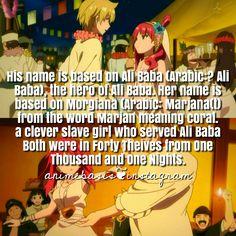 Anime Fact // Manga Fact// Magi: The Labyrinth Of Magic - Morgiana and Ali Baba Manga Magi, Anime Magi, Alibaba And Morgiana, Magi Adventures Of Sinbad, Magi Kingdom Of Magic, Magi 3, Dark Poetry, Labrynth, Ali Baba