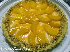 @ceperaalimentos #Receita #Bomdia RECEITAS DONA JULIA - Blog de Culinária Gastronomia e Receitas.: TORTA DE PÊSSEGO