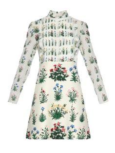 Primavera-print long-sleeved dress | Valentino | MATCHESFASHION.COM UK