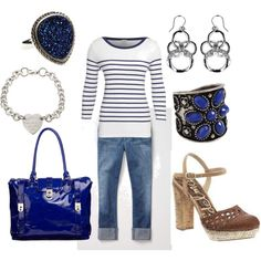 cobalt blue accents