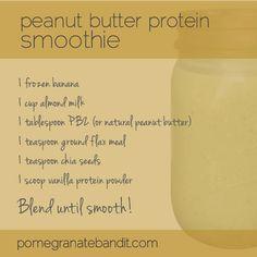 PB Protein Smoothie Recipe