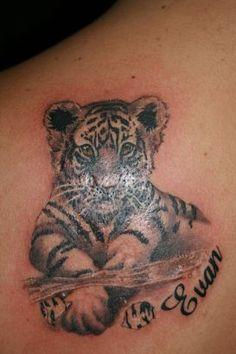 white+tiger+tattoo | Tiger Cub Tattoo || Tattoo from Itattooz