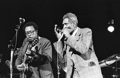 Big Walter Horton on harmonica and Jimmy Rodgers on guitar