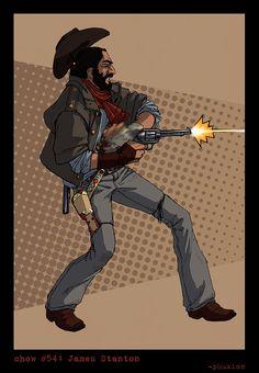 James Stanton, gunslinger. By phuzion.