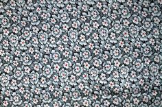 1930s Starburst Gray and Red Floral by lostnfounddrygoods on Etsy, $52.00