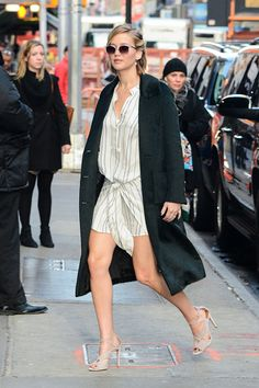 Arriving at Good Morning America in New York City. See all of Jennifer Lawrence's best looks