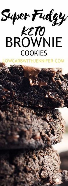 Super fudgy keto brownie cookies are double chocolate chip cookies that are so easy to make with only 1 bowl! #ketocookies #lowcarbbrownies #lowcarbdesserts #ketodesserts